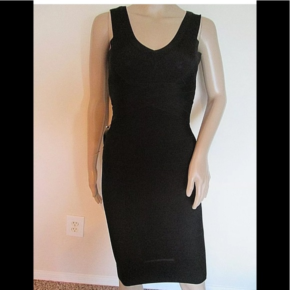 9d89c537433 NWT BEBE Bandage Bodycon Dress Black S P